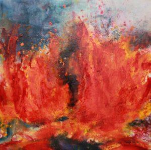 Vulcanic Eruption III, oilcolour painting