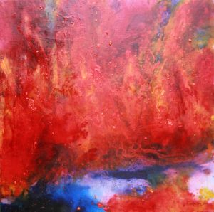 Vulcanic Eruption I. oilcolour painting
