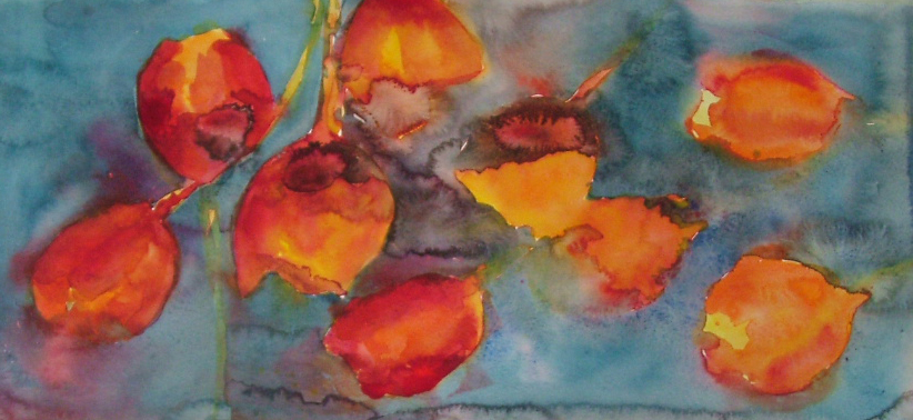 ID 18 Watercolor Red on Fire,Tulips 73,2x42 cm in a carton - 57x26m without a carton