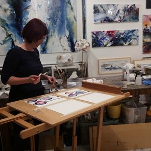 Watercolor in workshop