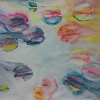 Tulips VI, 2014, Watercolour on paper, 113x118 cm