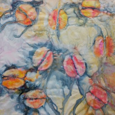 Tulips I, 2014, Watercolour on canvas, 130x130 cm