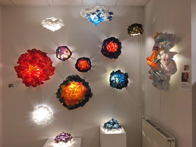 Light Sculptures in Art Gallery 101 Laugavegur 44, Reykjavík